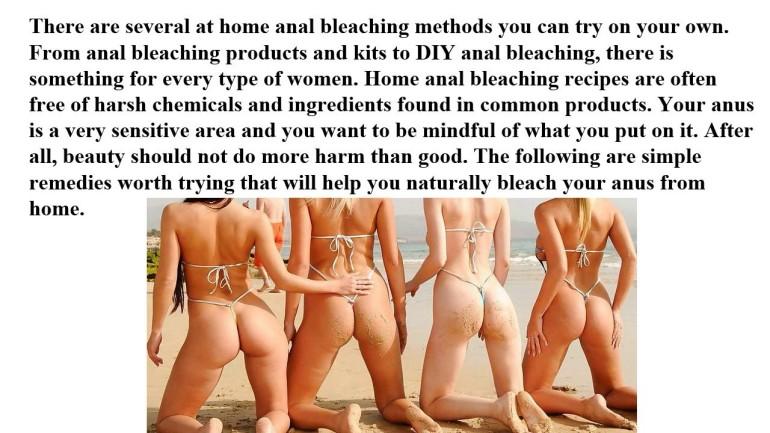 anal bleaching